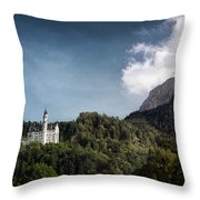 Little Castle On The Hill Throw Pillow