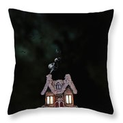 Little Ceramic Cottage Throw Pillow