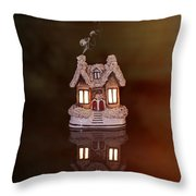 Little Ceramic House Throw Pillow
