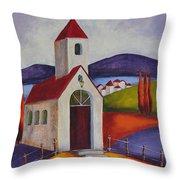 Little Chapel 1 Throw Pillow