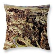Little Colorado River Throw Pillow