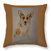 Little Corgi Throw Pillow