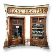 Little Craftsman' Shop - Micul Meserias Throw Pillow