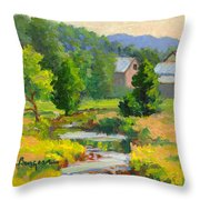 Little Creek Farm Throw Pillow