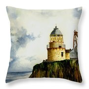 Little Cumbrae Lighthouse Throw Pillow