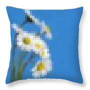 Little Daisies Throw Pillow