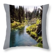Little Deschutes Photograph Throw Pillow