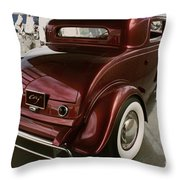 Little Deuce Coupe Aft View Throw Pillow