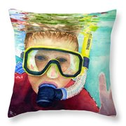 Little Diver Throw Pillow