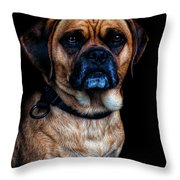 Little Dog Big Heart Throw Pillow