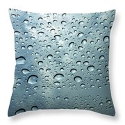 Little Drops Of Rain Throw Pillow