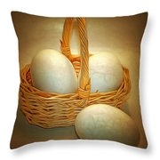 Little Egg Basket II Throw Pillow