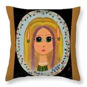 Little Elf Girl Throw Pillow