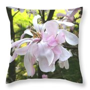 Little English Flower Throw Pillow