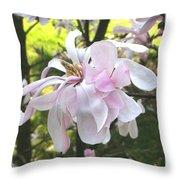 Little English Flower Throw Pillow