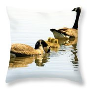 Little Family Throw Pillow