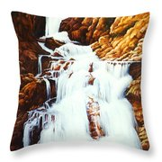 Little Firehole Falls Throw Pillow