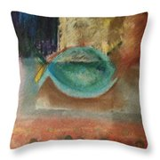 little fish Big Pond Throw Pillow