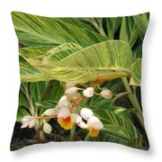 Little Flower In The Leaves II Throw Pillow