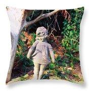 Little Flowergirl Throw Pillow