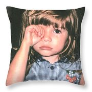 Little Girl Blue Throw Pillow by Tom Zukauskas
