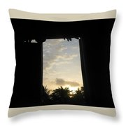 Little Girl Whom Dreams Out A Window Throw Pillow
