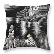 Little Girls Throw Pillow by Svetlana Sewell