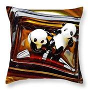 Little Glass Pandas 43 Throw Pillow