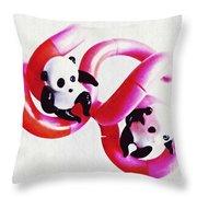 Little Glass Pandas 44 Throw Pillow