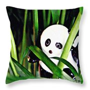 Little Glass Pandas 59 Throw Pillow