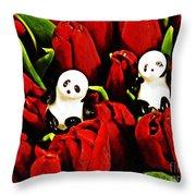 Little Glass Pandas 80 Throw Pillow