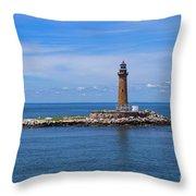 Little Gull Lighthouse Throw Pillow