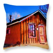 Little House In Lincoln Throw Pillow