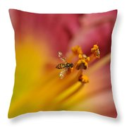 Little Hoverfly Throw Pillow
