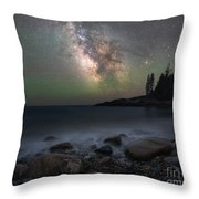 Little Hunters Cove At Night Throw Pillow