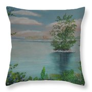 Little Island Throw Pillow
