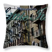 Little Italy In New York Throw Pillow