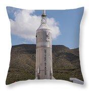 Little Joe 2 Rocket Throw Pillow