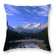 Little Lakes Valley Panorama Throw Pillow
