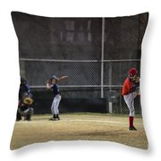 Little League Baseball Throw Pillow