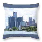 Little Lighthouse In The City Throw Pillow