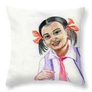 Little Manju Throw Pillow