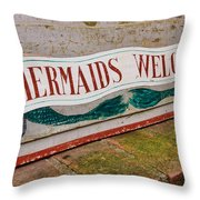 Little Mermaids Throw Pillow