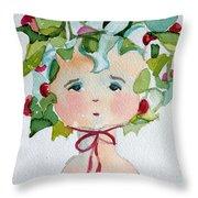 Little Miss Innocent Ivy Throw Pillow