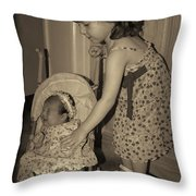 Little Mommy Throw Pillow