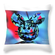 Little Mouse - Lead Crystal Throw Pillow