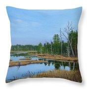 Little Musquatch Lake Throw Pillow