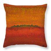 Little Needles Original Painting Throw Pillow