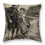 Little Nell And Her Grandfather  Throw Pillow