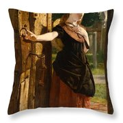Little Nell Leaving The Church Throw Pillow